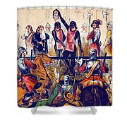 Execution Of Charles I, 1649 Shower Curtain