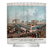 Execution Of The Thirty Eight Sioux Indians Shower Curtain