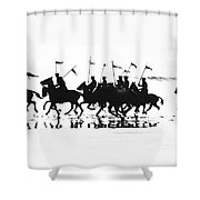 Exhibition Platoon Of The 11th U.s. Cavalry On Del Monte Beach Monterey California 1935 Shower Curtain