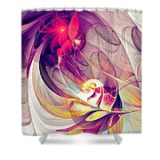 Exhilarated Shower Curtain