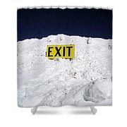 Exit Shower Curtain by Fiona Kennard