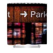 Exit Park Shower Curtain