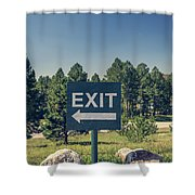 Exit Sign Shower Curtain