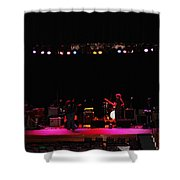 Exit Stage Left Shower Curtain