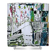Exit Strategy Shower Curtain