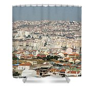 Exiting Lisbon By Plane Shower Curtain