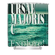 Exoplanet 03 Travel Poster Ursae Majoris Shower Curtain by Chungkong Art