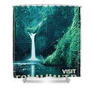 Exoplanet 04 Travel Poster Fomalhaut B Shower Curtain by Chungkong Art