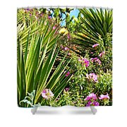Exotic Hillside Garden Shower Curtain