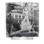 Exotic New Orleans Monochrome Shower Curtain