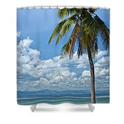 Exotic Palm Tree Shower Curtain