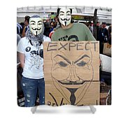 Expect Revolution Shower Curtain