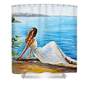 Expectation Of My Love Shower Curtain