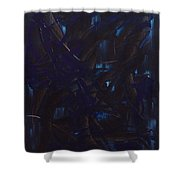 Expectations Blue  Shower Curtain