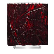 Expectations Red  Shower Curtain
