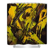 Expectations Yellow Shower Curtain