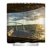 Expedition Boat In Repulse Bay Shower Curtain