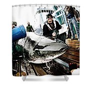 Expedition Great White Crew Conducts Shower Curtain
