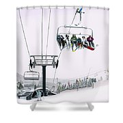 Experience Seven Springs Shower Curtain
