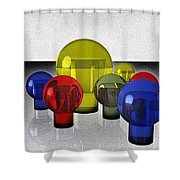 Experimental Reflections Shower Curtain