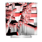 Exploding Fractal Shower Curtain