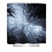 Exploding Ice Shower Curtain