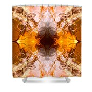 Exploding Ideas Abstract Pattern Artwork By Omaste Witkowski Shower Curtain