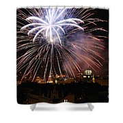 Exploding Stars Shower Curtain