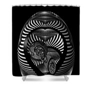 Exploration Into The Unknown Bw Shower Curtain