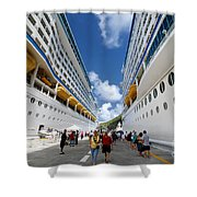 Explorer Of The Seas And Adventure Of The Seas Shower Curtain