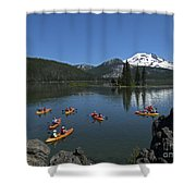 Exploring Sparks Lake Shower Curtain
