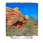Exploring The Upper Plateau Of Zion Shower Curtain