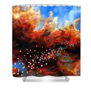 Explosion In The Sky Shower Curtain