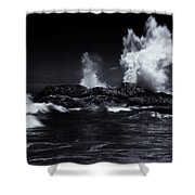 Explosion Shower Curtain by Mike  Dawson