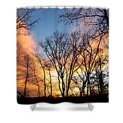 Explosion Of Color In The Sky Shower Curtain