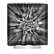 Explosive Abstract Black And White By Kaye Menner Shower Curtain
