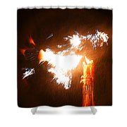 Explosive Candlelight Shower Curtain
