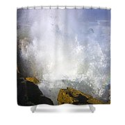 Explosive Shower Curtain by Mike  Dawson