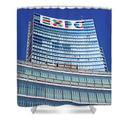 Expo 2015 Sign Shower Curtain