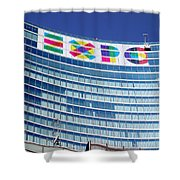 Expo Sign Shower Curtain