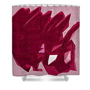 Expression Of Red Shower Curtain
