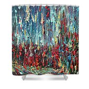 Expressionist Cat Oil Painting.1 Shower Curtain