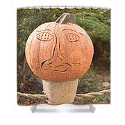 Expressive Pumpkin Shower Curtain