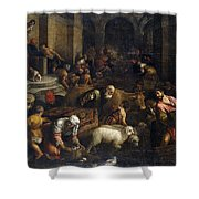 Expulsion Of Merchants From The Temple Shower Curtain