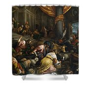 Expulsion Of The Merchants From The Temple Shower Curtain