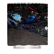 Extended Mt.cycle Shower Curtain