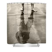 Extension Sepia Shower Curtain