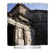 Exterior Of The Pantheon Shower Curtain