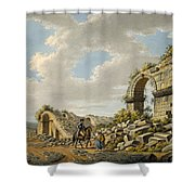 Exterior Of The Ruined Roman Theatre Shower Curtain