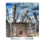 Exterminate - Exterminate Shower Curtain by MJ Olsen